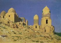 Hazreti Shakh-i-Zindeh Mausoleum in Samarkand by Nikolai Stepanovich Vereshchagin