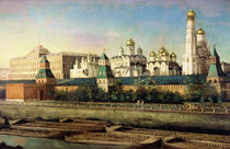 View of the Moscow Kremlin from the Embankment  by Nikolai Ivanov Podklutchnikov