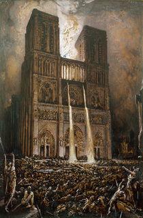 The Populace Besieging Notre-Dame  von Francois Nicolas Chifflart