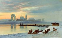 The Angara Embankment in Irkutsk by Nikolai Florianovich Dobrovolsky