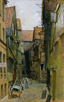 The Matthiasstrasse in Hamburg by Franz Skarbina