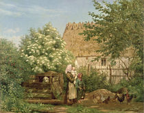 Feeding the Chickens  by Frederick Christian Lund