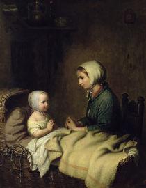 Little Girl Saying Her Prayers in Bed  von Meyer von Bremen