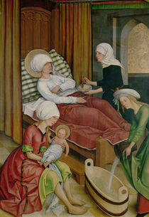 The Birth of the Virgin by Master of the Pfullendorf Altar