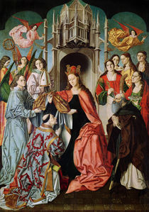 Presentation of the Chasuble to St. Ildefonso  by Master of San Ildefonso