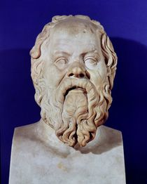 Bust of Socrates  by Greco-Roman