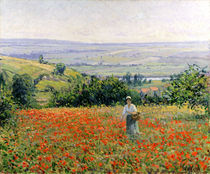 Woman in a Poppy Field  von Leon Giran-Max
