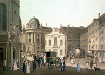 View of Michaelerplatz showing the Old Burgtheater  by Karel Postl