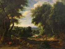 The Road to Boitsfort from Auderghem and the Ten Reuken Pond  by Jacques d' Arthois
