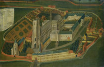 The Abbey of Saint-Bertin at Saint-Omer by Jacques Francois Lemaire