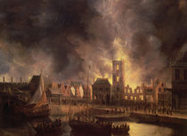 The Great Fire in the Old Town Hall by Jan Beerstraten