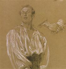 Portrait study of a man in a white shirt  by Jan Preisler