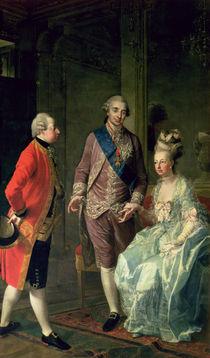 Archduke Maximilian Franz visiting Marie Antoinette  von Josef Hauzinger