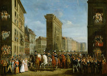 Passage of Allied Sovereigns in Front of the Porte Saint-Denis by Jean Zippel