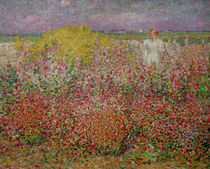 Mrs. Russell Amongst the Flowers at Belle Isle by John Peter Russell