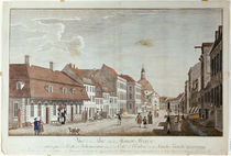 View of Mauer Strasse by Johann Georg Rosenberg