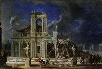 Samson smiting the Philistines by Johann Heinrich Schonfeldt
