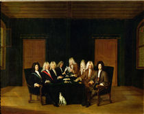 The Plenipotentiaries at the Congress of Baden by Johann Rudolph the Elder Huber