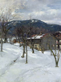 Winter landscape near Kutterling by Johann Sperl