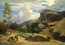Italian Landscape  by Johann Wilhelm Schirmer