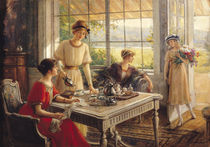 Women Taking Tea  von Albert Lynch