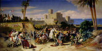 The Taking of Beirut by the Crusaders in 1197 von Alexandre-Jean-Baptiste Hesse