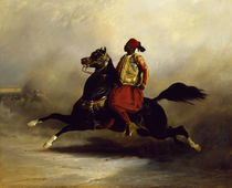 Nubian Horseman at the Gallop  by Alfred Dedreux or de Dreux