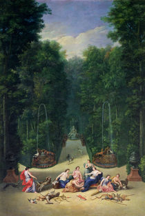 The Groves of Versailles: View of the Maze with Diana and her Nymphs von Jean the Younger Cotelle