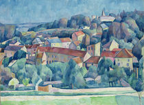 Hardricourt Village and Castle  by Walter Rosam