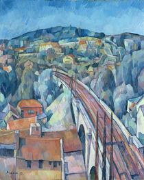 The Railway Bridge at Meulen  von Walter Rosam