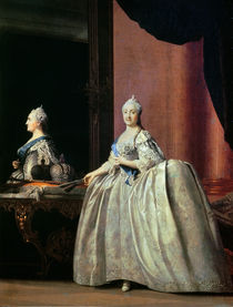 Empress Catherine II before the mirror von Vigilius Erichsen