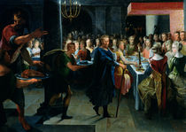 Dice Offering a Banquet to Francus von Toussaint Dubreuil