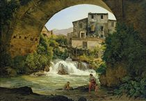 Under the arch of a bridge in Italy by Joseph Rebell