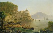 View Towards Atrani on the Amalfi by Joseph Rebell