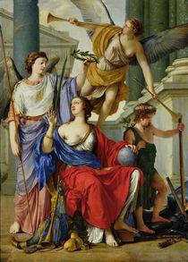 Allegory of the Regency of Anne of Austria  by Laurent de La Hire or La Hyre