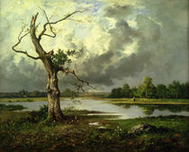 French River Landscape  by Leon Richet