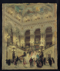 The Staircase of the Opera by Louis Beroud