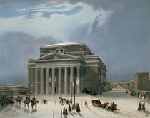 The Bolshoi Theatre in Moscow by Louis Jules Arnout