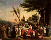 Funeral of Godfrey of Bouillon  by Edouard Cibot