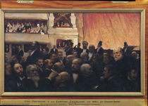 First Night at the Comedie Francaise in 1885  von Edouard-Joseph Dantan