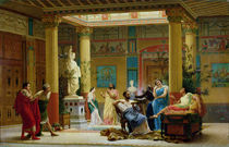 A Performance of 'The Fluteplayer' in the 'Roman' house of Prince Napoleon III  von Gustave Clarence Rodolphe Boulanger