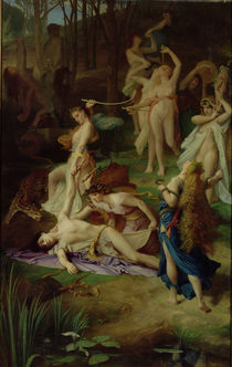The Death of Orpheus by Emile Levy
