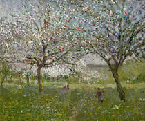 Apple Trees in Flower  von Ernest Quost