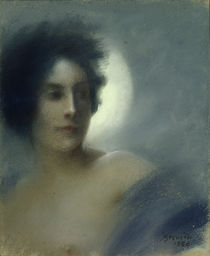 Woman with a Crescent Moon or von Paul Albert Besnard