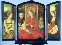 The Holy Family with St. Catherine and St. Barbara by Master of the Holy Blood
