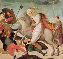The Apparition of St. Ambrose at the Battle of Milan by Master of the Pala Sforzesca