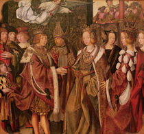 St. Ursula and Prince Etherius Making a Solemn Vow to each Other by Master of the St. Auta Altarpiece