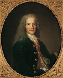 Portrait of Voltaire  by Nicholas de Largilliere