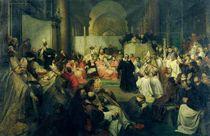 Galilei before the Council by Friedrich Karl Hausmann
