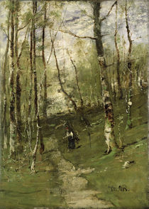 In the Barbizon Woods in 1875  by Mihaly Munkacsy